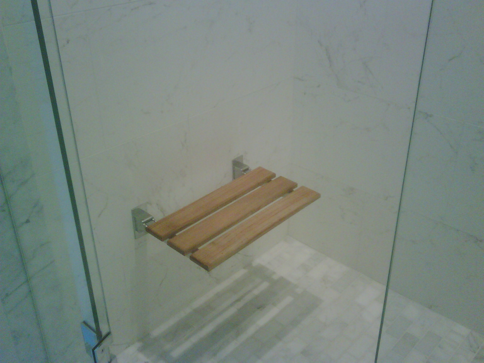 Have a seat … in the shower | ReDesigning Sarah