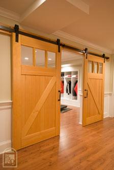 Barn doors redesigning sarah for Barn door dining room