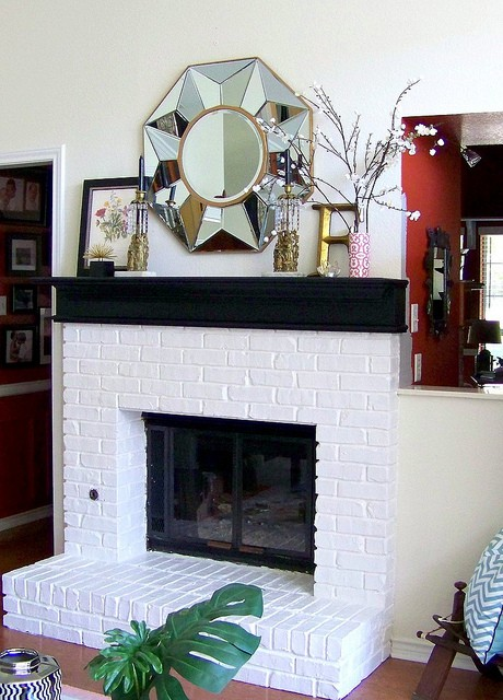 Fireplace redesigning sarah - Black and white fireplace ...